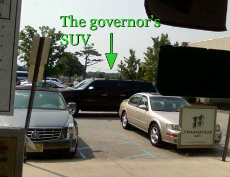 the governor's suv