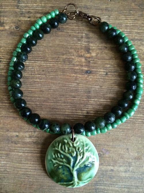 bracelet - green tree