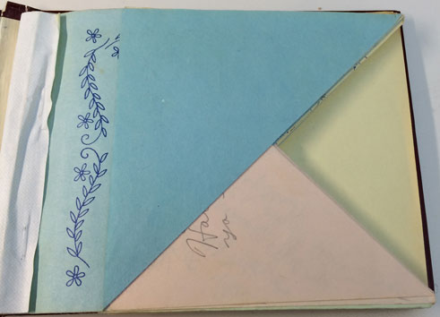 autograph book - folded pages