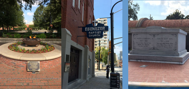King Museum: Eternal Flame | Ebenezer Baptist Church | King graves