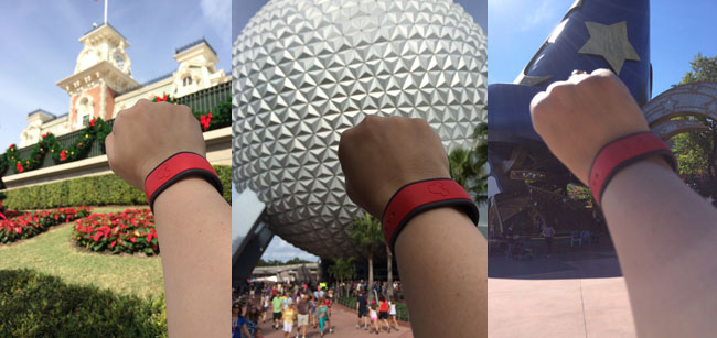 Exerting my MagicBand power at Magic Kingdom, Epcot, and Studios