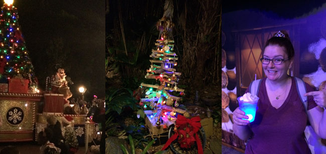 Christmas Parade | Jingle Cruise tree | Queen Elsa's magical blue brew of alcoholic goodness