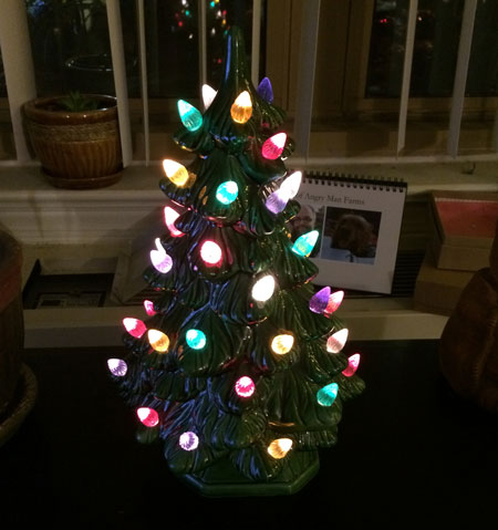 This is my ceramic Christmas tree. There are many like it, but this one is mine.