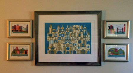 Print by Mary Blair for Disney, postcards from Birchbox!