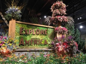At the Philadelphia Flower Show last week.